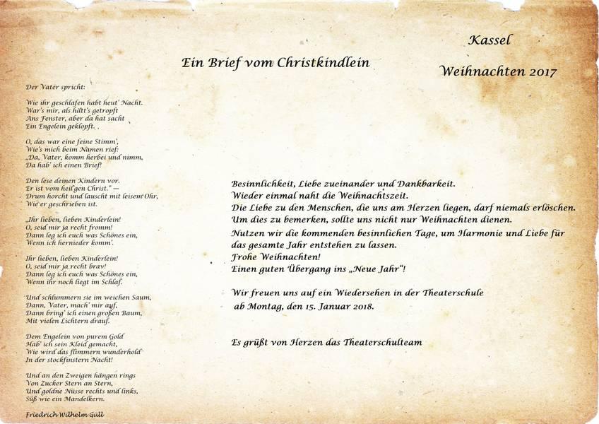 Frohe Weihnachten Brief.Maria Montessori Centrum Kassel Frohe Weihnachten